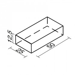 Lakkozott műbőr szivacs téglalap 12,5x25x50 cm Sportszer Amaya