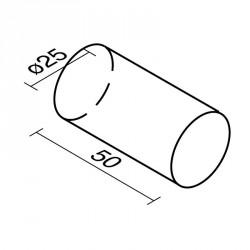 Lakkozott műbőr szivacs henger 50 cm Sportszer Amaya