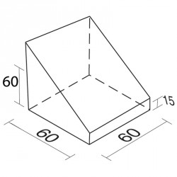 Lakkozott műbőr szivacs hiányos háromszög 60 cm Sportszer Amaya