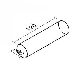 Lakkozott műbőr szivacs henger 120 cm Sportszer Amaya