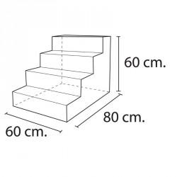 Lakkozott műbőr szivacs 4 fokos lépcső Sportszer Amaya