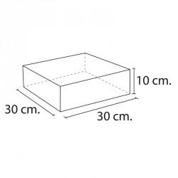 Lakkozott műbőr szivacs téglalap 10x30x30 cm Sportszer Amaya
