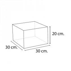 Lakkozott műbőr szivacs téglalap 20x30x30 cm Sportszer Amaya