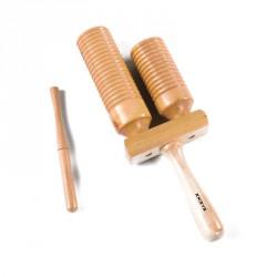 2 hangnemű rovátkált fa hangszer Sportszer Amaya