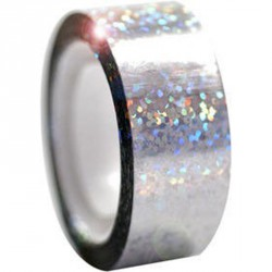 Dekorációs szalag tornakarikára csillám ezüst 11 m Sportszer Amaya