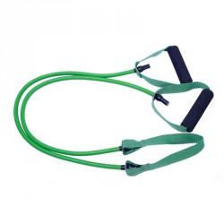 Erősítő gumikötél középső pánttal 1,2 m zöld közepes Sportszer Amaya