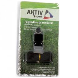 Aktivsport Fogvédős műanyag síp  zsinórral Sportszer Aktivsport