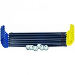 Floorball készlet, műanyag 95 cm nyéllel Sportszer