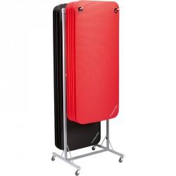 Trendy ProfiGymMat 180x60x1 cm fitnesz szőnyeg szürke felakasztható Sportszer Trendy