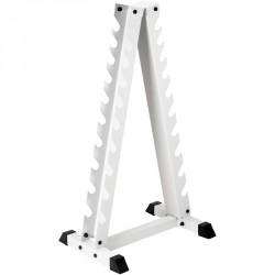 Súlyzótartó állvány Trendy Pyramide fehér Sportszer Trendy