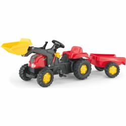 Pedálos markolós traktor utánfutóval Rolly Kid-X Pedálos járművek Rolly Toys