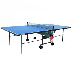 Stiga ping-pong asztal Outdoor Roller kültéri, kék, hálóval és hálótartóval Sportszer Stiga