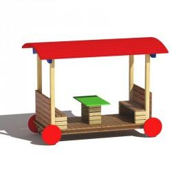 Fedett kocsi asztallal Játszótéri eszközök