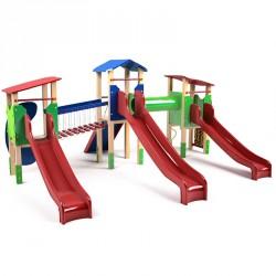 Háromtornyú vár Trimont Játszótéri eszközök