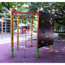 Hatszögletű mászóka Játszótéri eszközök