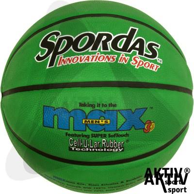 Spordas Max Color kosárlabda, 5-ös, zöld