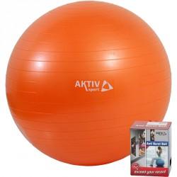 Durranásmentes labda Aktivsport 55 cm narancs Sportszer Aktivsport
