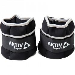 Csukló- és bokasúly Aktivsport 2x1 kg fekete-szürke Sportszer Aktivsport
