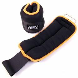 Aktivsport Neoprén csukló- és bokasúly 2x1 kg fekete/narancssárga Sportszer Aktivsport