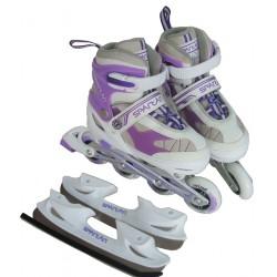 Görkorcsolya és jégkorcsolya Inline lila Sportszer Spartan