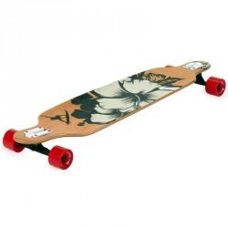 Longboard gördeszka Drop Shape Surf Black Sportszer Spartan