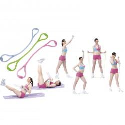 Zselés gumikötél fogantyúval könnyű rózsaszín Sportszer Spartan