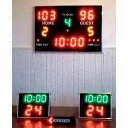 Eredményjelző kosárlabda szett beltéri Elektromos eredményjelző