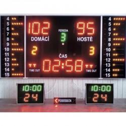 Eredményjelző Basketball Complet Maxi beltéri Elektromos eredményjelző