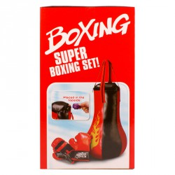 Bokszzsák és bokszkesztyű szett hanggal Sportszer
