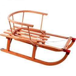Fa szánkó karfával és kötéllel 75 cm Játék