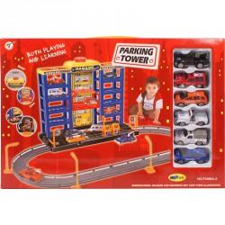 Parkolóház autópályával Autópályák, parkolóházak