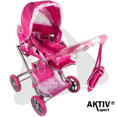 Babakocsi mély táskás pink