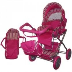 Babakocsi mély táskás pink Babakocsik