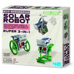 3 az 1-ben mini napelemes robot 4M Kreatív készletek 4M