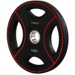 Súlyzótárcsa Gymstick Pro 2,5 kg fekete Sportszer Gymstick