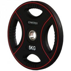 Súlyzótárcsa Gymstick Pro 5 kg fekete Sportszer Gymstick