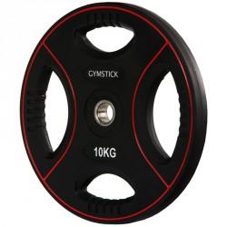 Súlyzótárcsa Gymstick Pro 10 kg fekete Sportszer Gymstick
