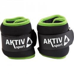 Csukló- és bokasúly Aktivsport 2x0,5 kg fekete-zöld Sportszer Aktivsport