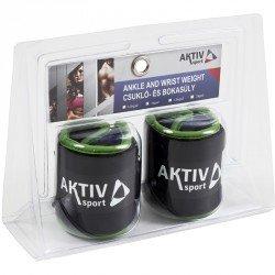 Csukló- és bokasúly Aktivsport 2x1 kg fekete-zöld Black Friday Aktivsport