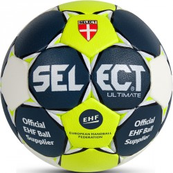 Kézilabda Select Ultimate kék-lime-fehér EHF méret: 3 Sportszer Select