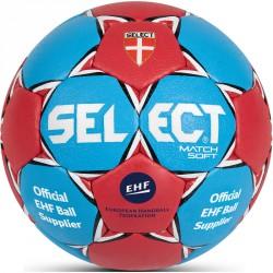 Kézilabda Select Match Soft EHF piros-kék méret: 2 Labdák Select