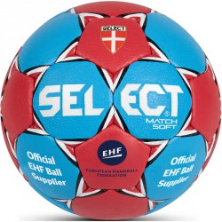 Kézilabda Select Match Soft EHF piros-kék méret: 3 Labdák Select