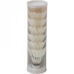 Tollaslabda szett toll 6 db fehér Tollaslabda