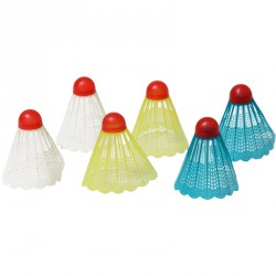 Tollaslabda szett műanyag 6 db színes Tollaslabda