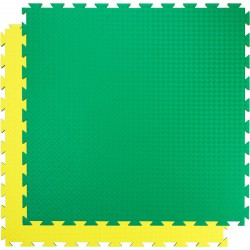 Trendy Double Stand.,100x100x2 cm puzzle zöld-sárga Fitnesz, tornaszőnyegek Trendy