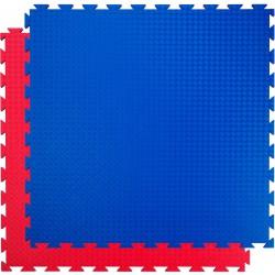 Trendy Double Stand.,100x100x2 cm puzzle kék-piros Fitnesz, tornaszőnyegek Trendy