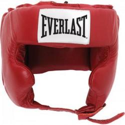 Bőr arcvédős fejvédő Everlast piros Sportszer Everlast