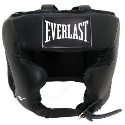 Bőr arcvédős fejvédő Everlast fekete Sportszer Everlast