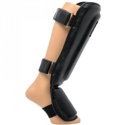 Bőr sípcsont- és lábfejvédő Everlast fekete Sportszer Everlast
