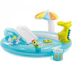 Gyermek játszómedence Intex krokis csúszdával Gyermek medence Intex